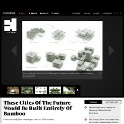 These Cities Of The Future Would Be Built Entirely Of Bamboo