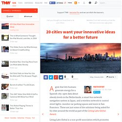 20 Cities Want Your Innovative Ideas