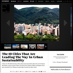 The 10 Cities That Are Leading The Way In Urban Sustainability