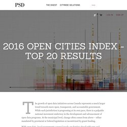 2016 Open Cities Index - Top 20 Results