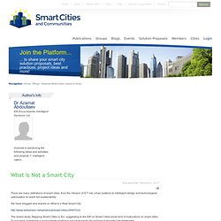 Smart Cities Stakeholder Platform