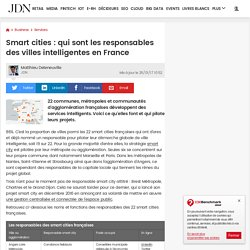 Smart cities : la carte des villes intelligentes en France