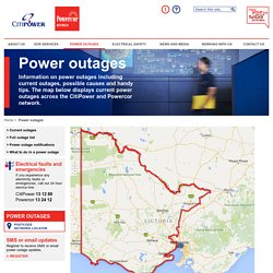CitiPower and Powercor - Power outages