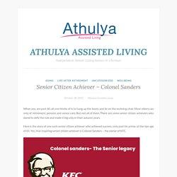 Senior Citizen Achiever - Colonel Sanders
