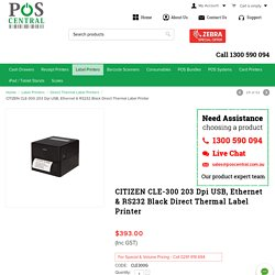 Buy Citizen Cle 300 203 Dpi USB Ethernet And Rs232 Black Direct Thermal Label Printer @ Lowest Prices - POS Central