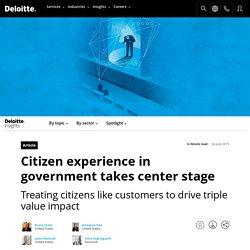 David - Citizen experience in government