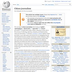 Citizen journalism
