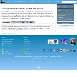 Citizen-based Monitoring Partnership Program
