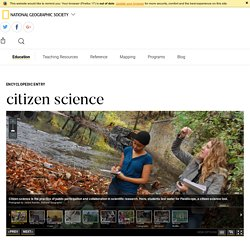 citizen science - National Geographic Society