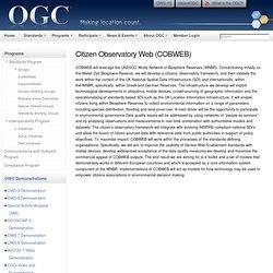 Citizen Observatory Web (COBWEB)