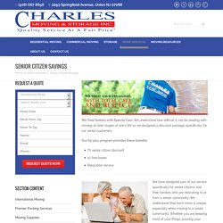 Senior Citizen Savings & Benefits - Charles Moving And Storage
