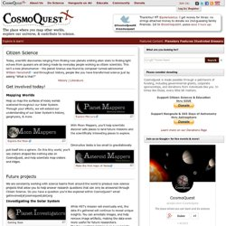 Citizen Science - CosmoQuest