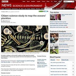 Citizen science study to map the oceans' plankton