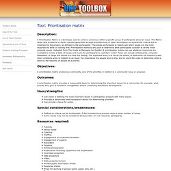 Citizen Science Toolbox - Tool Details