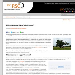 Citizen science: What's in it for us? - JISC RSC Blog