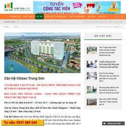 Căn hộ Citizen Trung Sơn giá rẻ nhất khu vực nhận nhà ở ngay