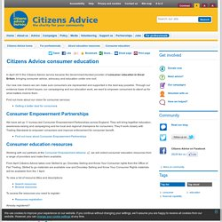 Citizens Advice consumer education