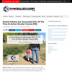Armed Citizens Are Successful 94% Of The Time At Active Shooter Events [FBI]