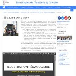 Séquence pédagogique : Citizens with a vision (ac-grenoble)