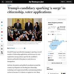Trump's candidacy sparking 'a surge' in citizenship, voter applications