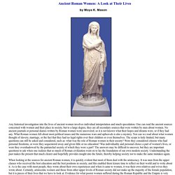 Ancient Roman Women: A Look at Their Lives - women's rights, Rome, citizenship, Cornelia, Oppian Laws, divorce, aristocracy