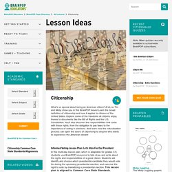 Citizenship Lesson Plans and Lesson Ideas