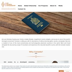 Canada PR Visa: Canada Permanent Residency, Canada Citizenship by Investment