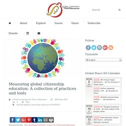 Measuring global citizenship education: A collection of practices and tools