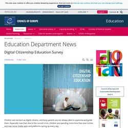Enquête sur l'éducation à la citoyenneté numérique - Actualités du Service de l'éducation