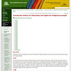 Tracing the history of citizenship and rights for Indigenous people
