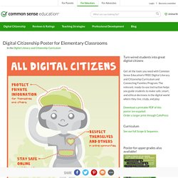 Digital Citizenship Poster for Elementary Classrooms