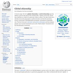Global citizenship