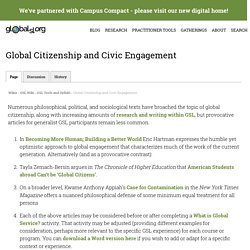 Global Citizenship and Civic Engagement on globalsl.org