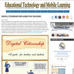 Digital Citizenship Explained for Teachers