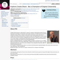 Explore.Create.Share - Be a Champion of Digital Citizenship