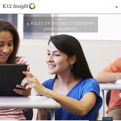 9 Rules of Digital Citizenship (#Infographic)