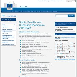 Rights, Equality and Citizenship Programme 2014-2020 - European Commission - DG Justiceunknown label