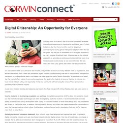 Digital Citizenship: An Opportunity for Everyone