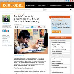 Digital Citizenship: Developing a Culture of Trust and Transparency