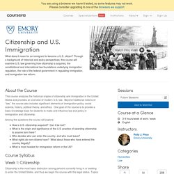 Citizenship and U.S. Immigration