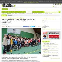 Un projet citoyen au collège autour du handisport - 12/03/2017