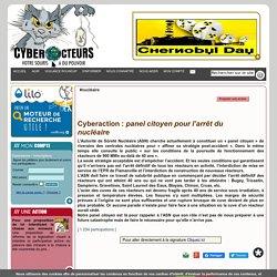 panel citoyen pour l'arrêt du nucléaire cyberaction