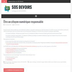Être un citoyen numérique responsable – SOS DEVOIRS