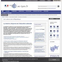 La réserve citoyenne de l'éducation nationale - Académie de Lyon