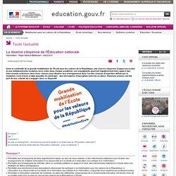 La réserve citoyenne de l'Éducation nationale