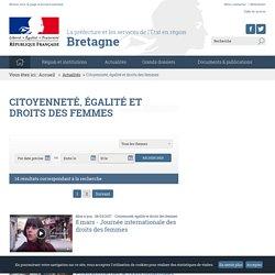 Citoyenneté, égalité et droits des femmes - Les services de l'État en préfecture de région Bretagne