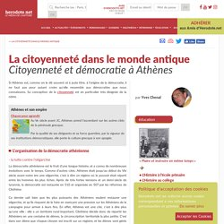 La citoyenneté dans le monde antique - Citoyenneté et démocratie à Athènes