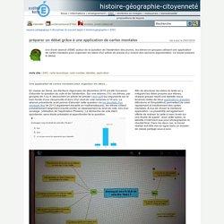 histoire-géographie-citoyenneté - préparer un débat grâce à une application de cartes mentales