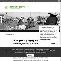 Enseigner la géographie : pour une citoyenneté active et critique