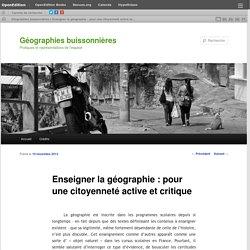 Enseigner la géographie: pour une citoyenneté active et critique P. Clerc